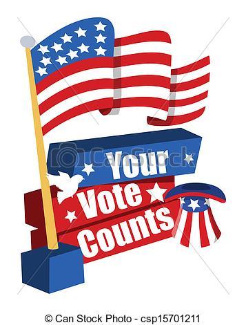 357x470 Vote Banner Clipart