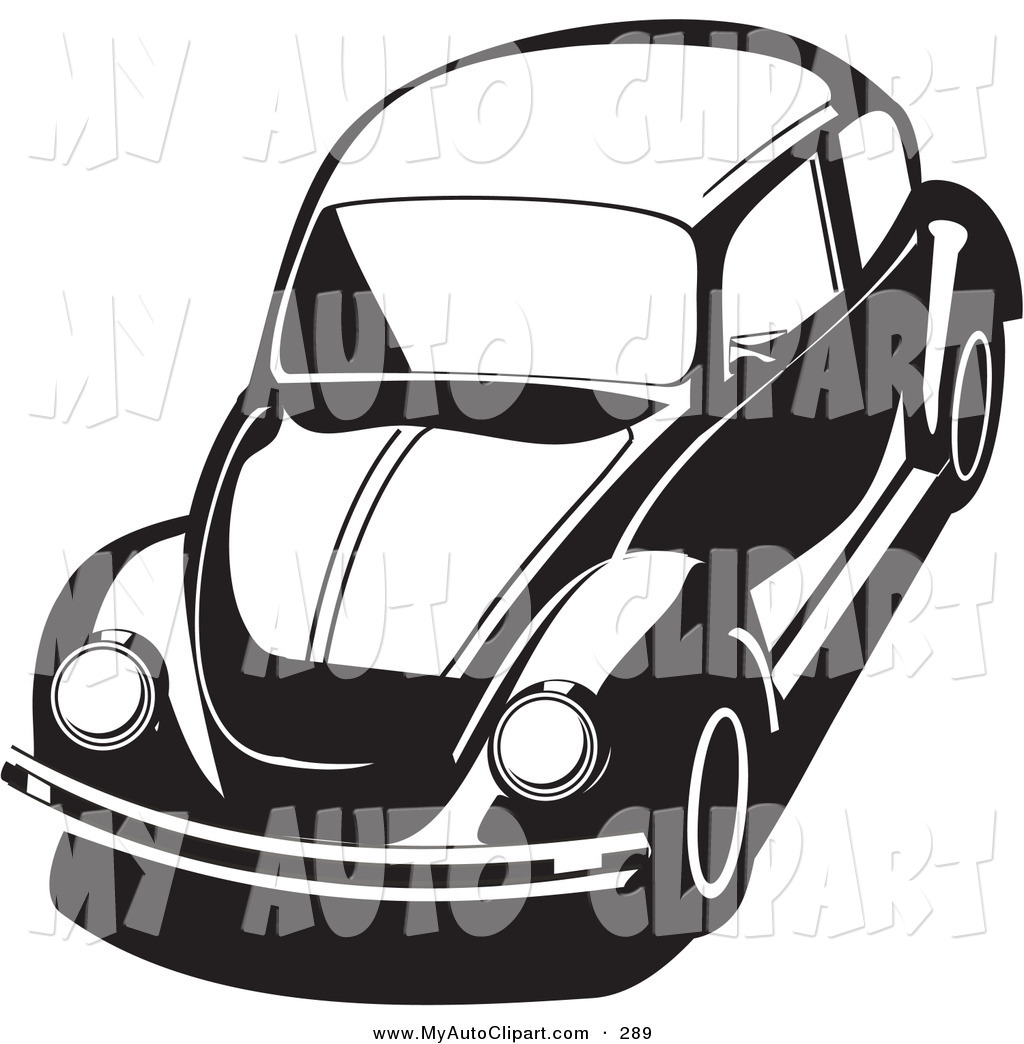 1024x1044 Clip Art Of A Compact Bug Car In Black And White By David Rey