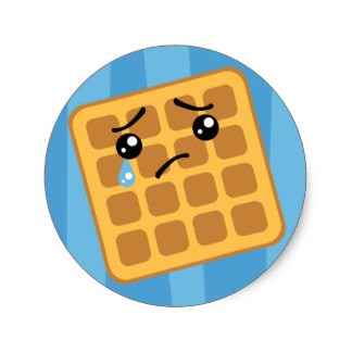 324x324 Cute Waffle Stickers Zazzle