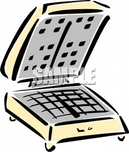 256x300 Square Waffle Maker Clip Art Image
