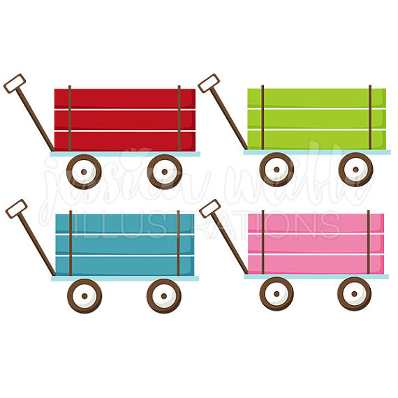 570x570 Pull Wagon Cute Digital Clipart Cute Wagon Clip Art Wagon
