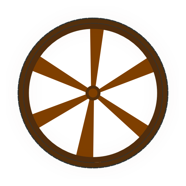 600x600 Wagon Wheel Clip Art