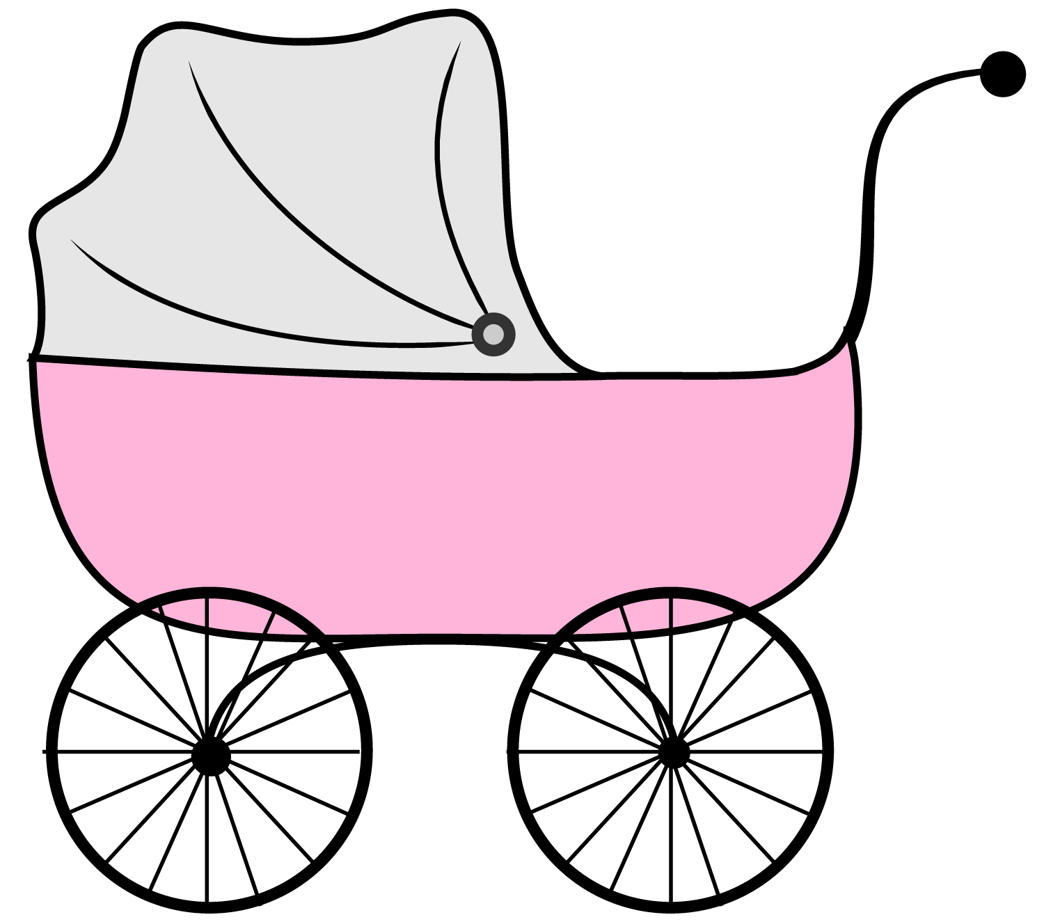 1500x1328 Wagon Clipart Pink