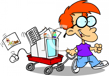 350x245 Wagon Clipart Toddler