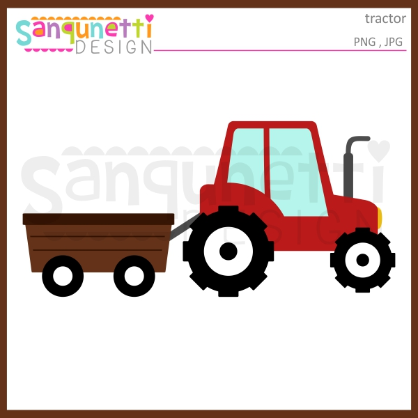 600x600 Wagon Clipart Tractor Pulling