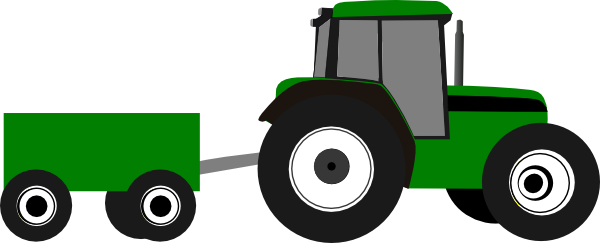 600x243 Wagon Clipart Tractor Pulling