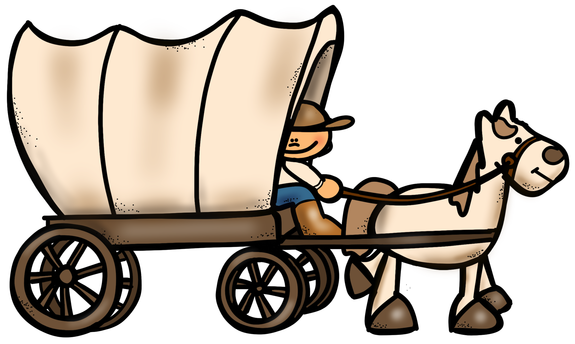 2400x1439 Wagon Clipart Westward Expansion