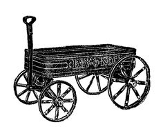236x190 Wagon Clipart, Toy Wagon Clip Art, Pull Cart Picture, Wheel Wagon