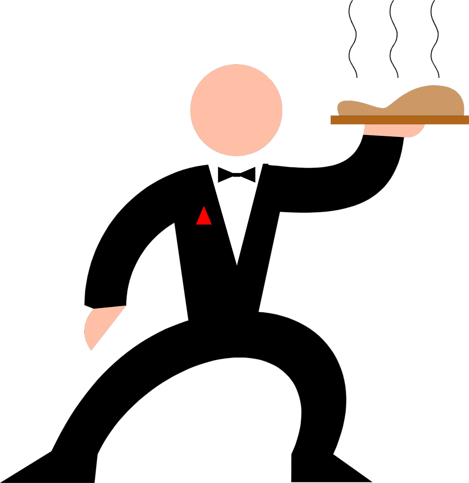 958x988 Waiter Free Stock Photo Illustration Of A Waiter With A Tray
