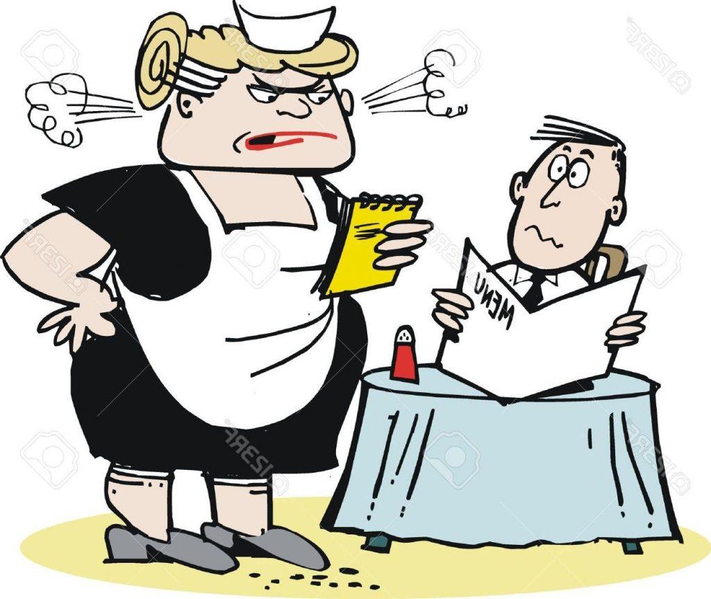 1024x863 Top 10 Cartoon Of Aggressive Waitress Stock Vector Restaurant