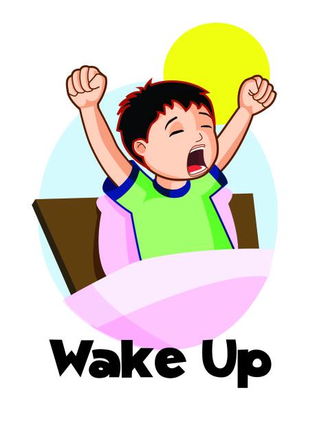 474x613 Wake Up Kids Clipart