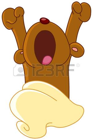 300x450 Bear Waking Up From Hibernation Yawning And Stretching Royalty