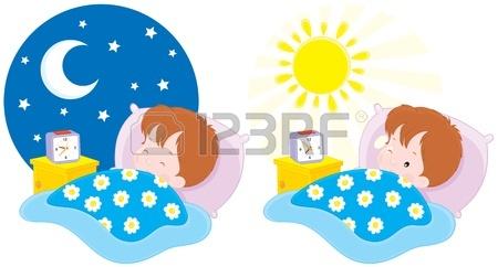450x242 Boy Sleeping Waking Up Royalty Free Cliparts, Vectors,