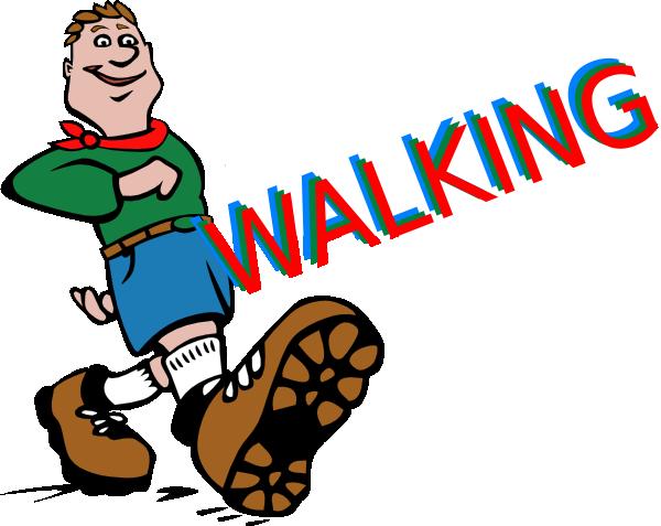 600x477 Walking Clip Art
