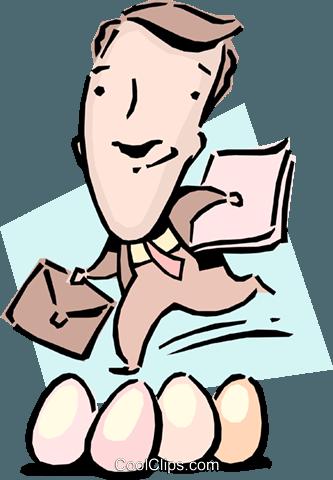 333x480 Walking On Eggshells Royalty Free Vector Clip Art Illustration