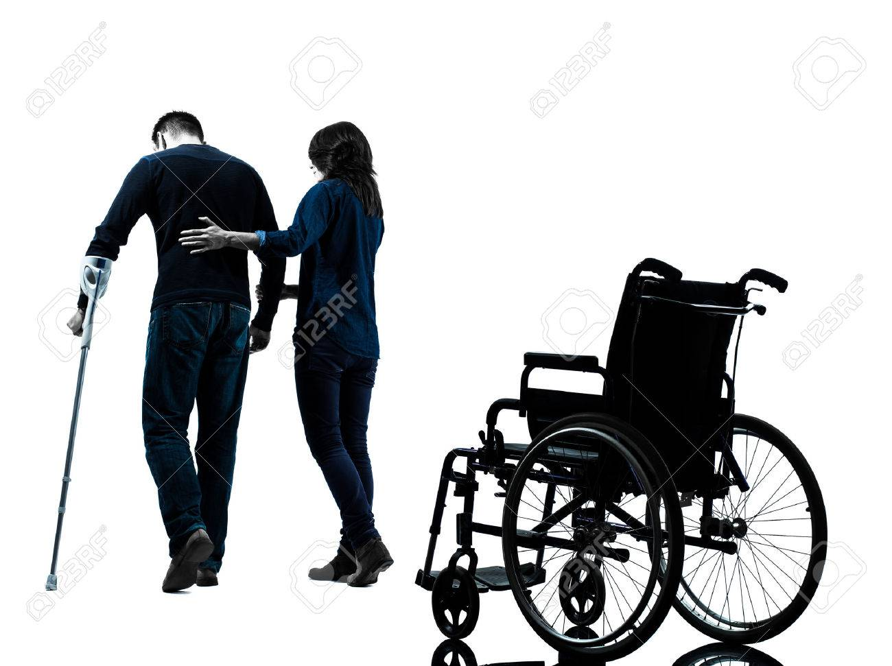 1300x971 Men Walk Crutches Stock Photos. Royalty Free Men Walk