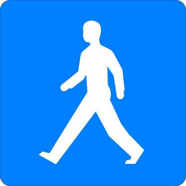 600x600 Symbol Walk Clipart