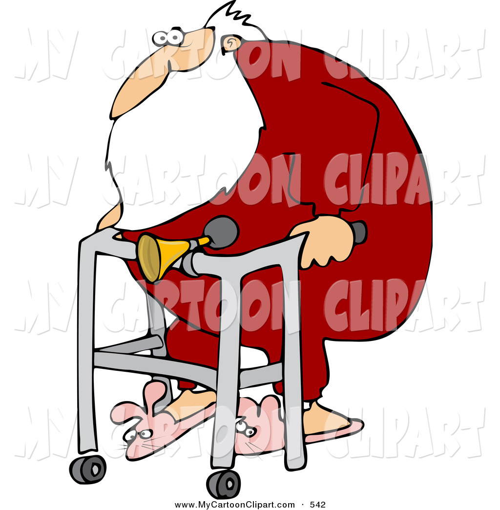 1024x1044 Cliprt Ofn Obese Santa Wearing Bunny Slippersnd Using