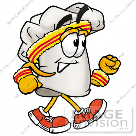 450x450 Clip Art Graphic Of A White Chefs Hat Cartoon Character Speed