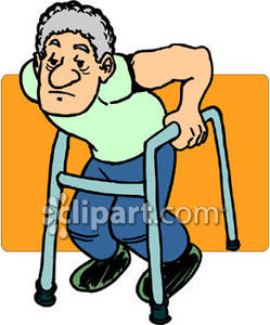 249x300 Old Man Using A Walker Royalty Free Clipart Picture