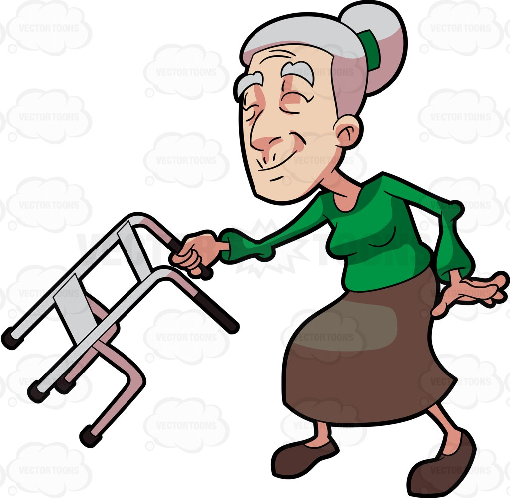 1024x1000 Old People With Walker Clipart Collection