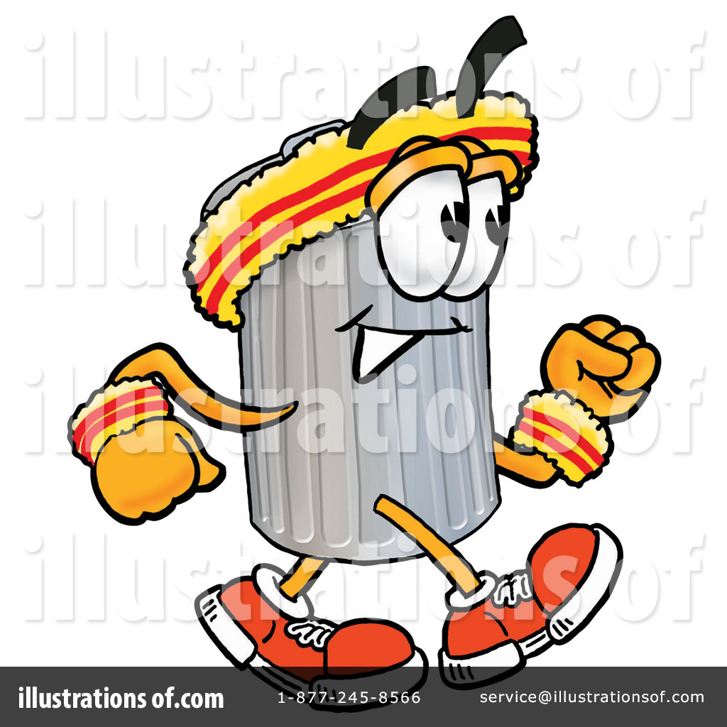 1024x1024 Trash Can Character Clipart