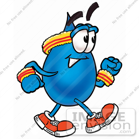 450x450 Clip Art Graphic Of A Blue Waterdrop Or Tear Character Speed