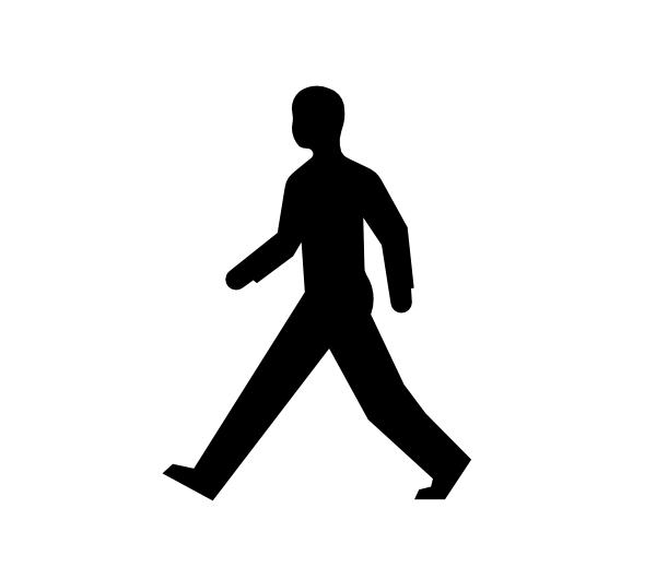 600x519 Male Body Walking Clip Art