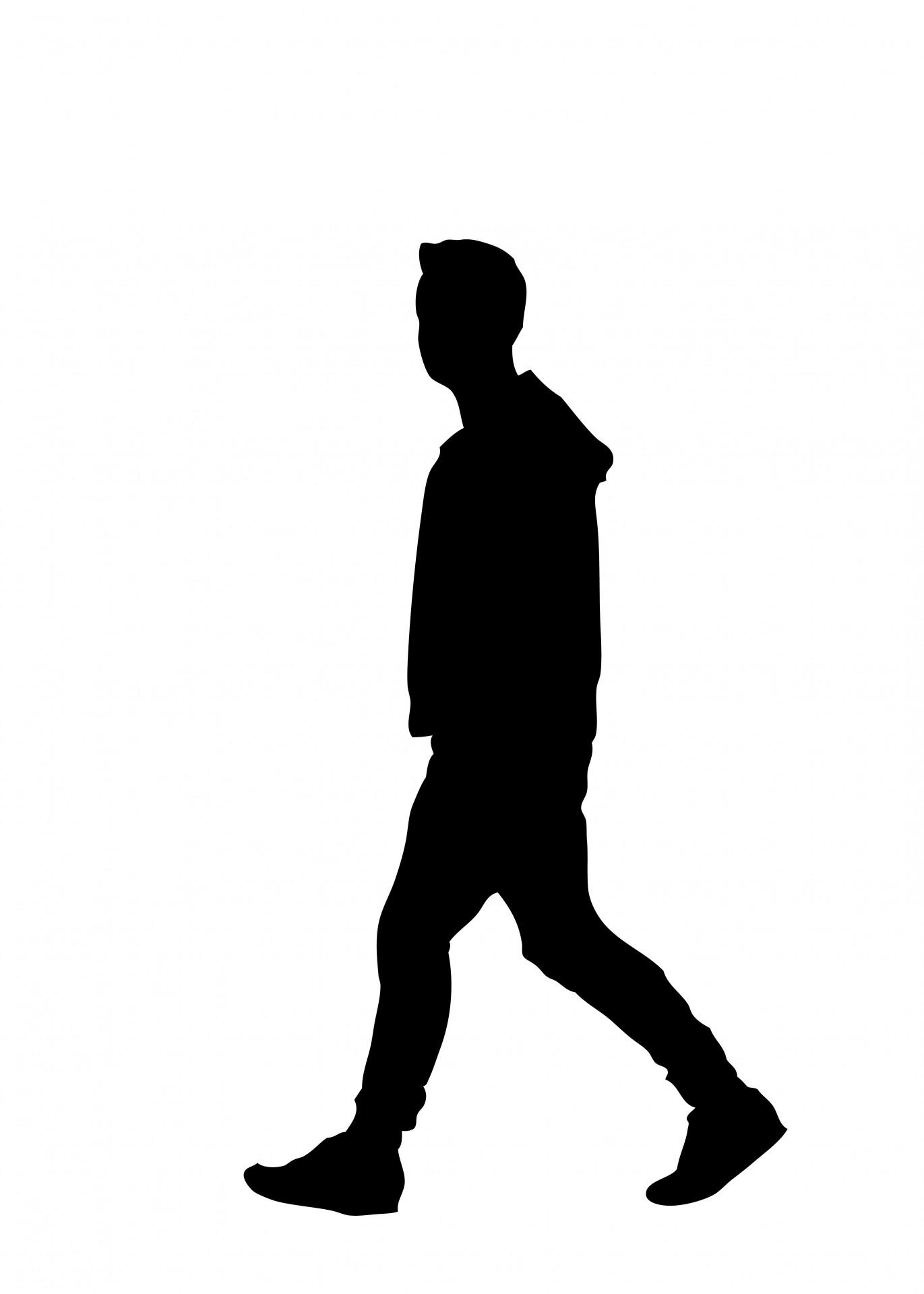 1371x1920 Silhouette Walking Man Clipart