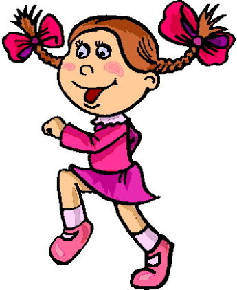 345x422 Walking Girl Clipart
