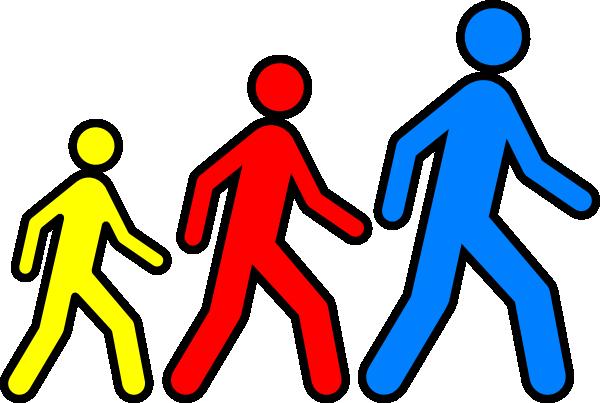 600x403 Walking Man Colors 2 Clip Art