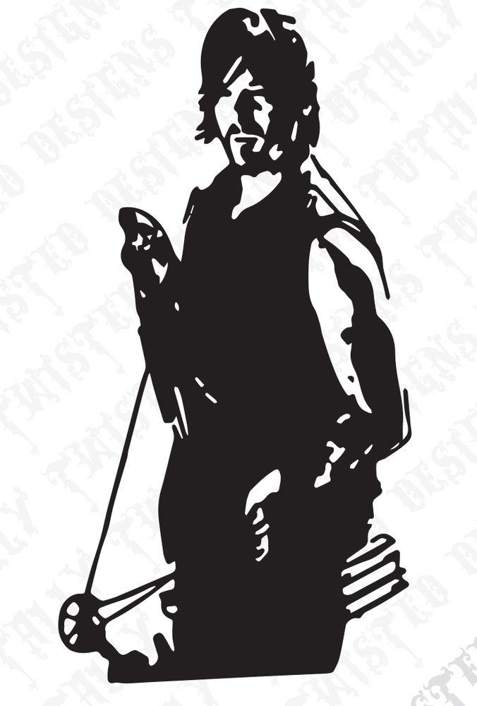 676x1000 Daryl Dixon Walking Dead Vinyl Decal Great For Car By Amavinyl