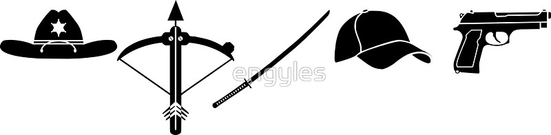 800x196 The Walking Dead Clipart Black And White Art