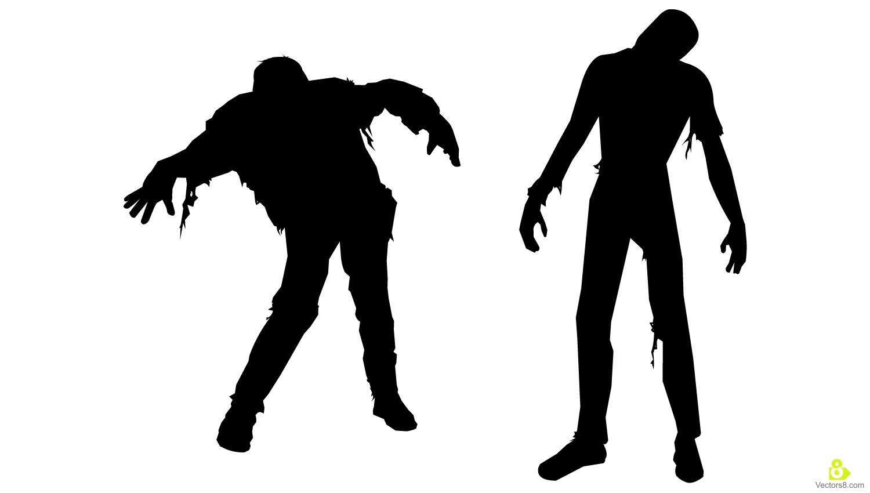 1500x850 The Walking Dead Clipart Silhouette