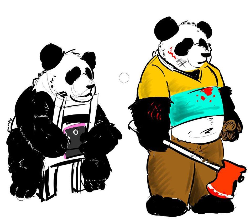 952x840 Wbb And The Walking Dead Panda By Lakalando