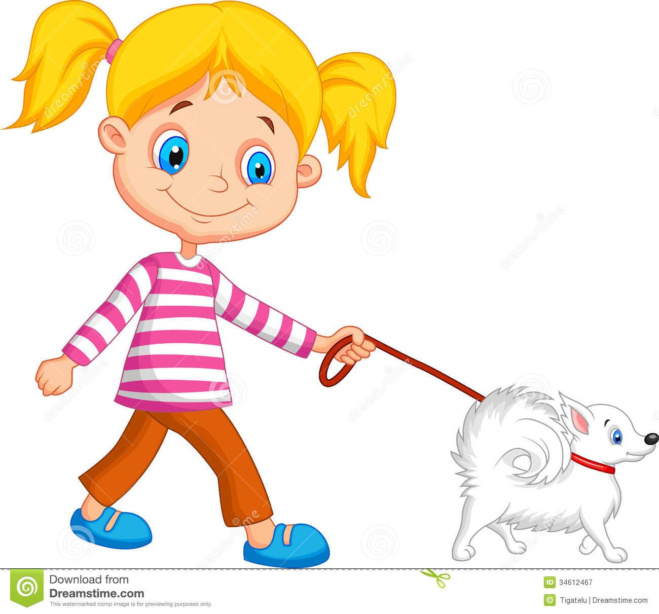 1300x1211 Girl Walking Dog Clipart