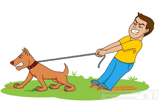 550x355 Man With Dog Clipart