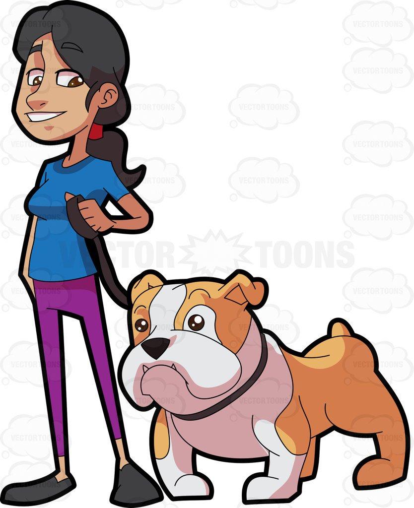 834x1024 Woman Standing Beside Her Pet Dog Before Walkt