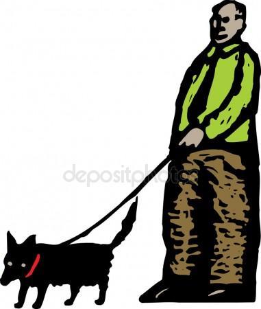 381x450 People Walking Dog Stock Vectors, Royalty Free People Walking Dog