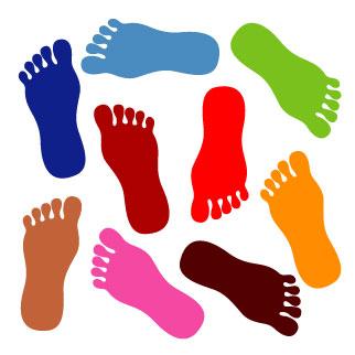322x322 Clip Art Feet