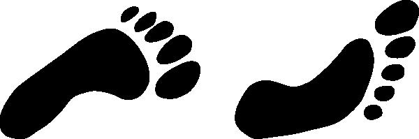 600x199 Feet Clipart Walking Foot