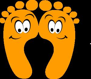 300x261 Foot Orange Happy Feet Clip Art