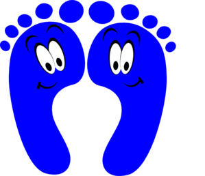 299x258 Blue Happy Feet Clip Art