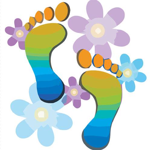 500x497 Footprint Clipart Foot Care