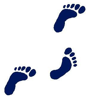 336x336 Footprint Clipart Walking Foot