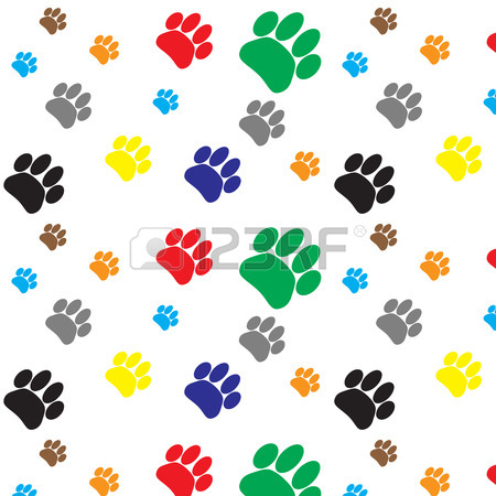 450x450 Pattern Colored Foot Print Isolated On White Background. Footprint