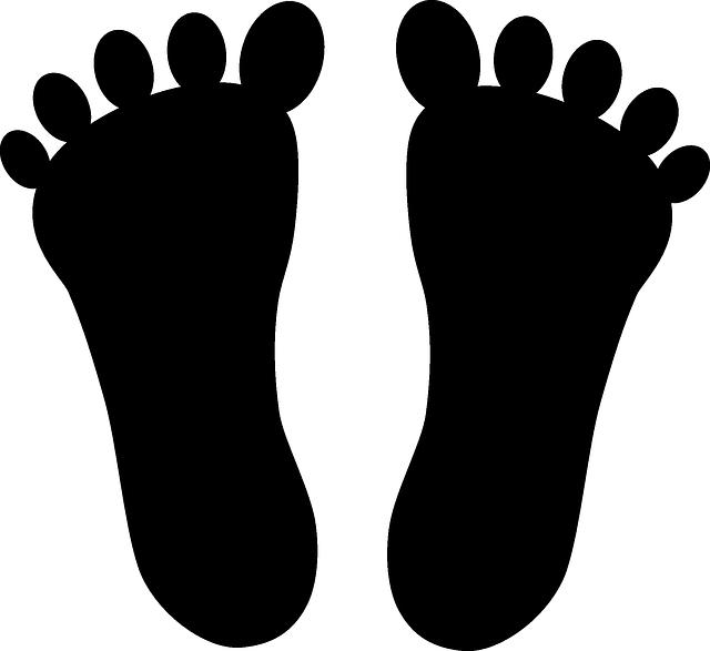 640x587 Walking Feet Free Vector Graphic Feet Foot Body Leg Walking Image