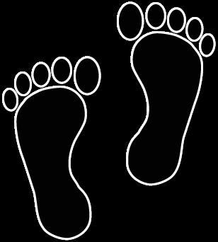 308x342 Walking Footprints Clip Art Baby