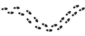 300x128 Clipart Of Footprints From A Shoe