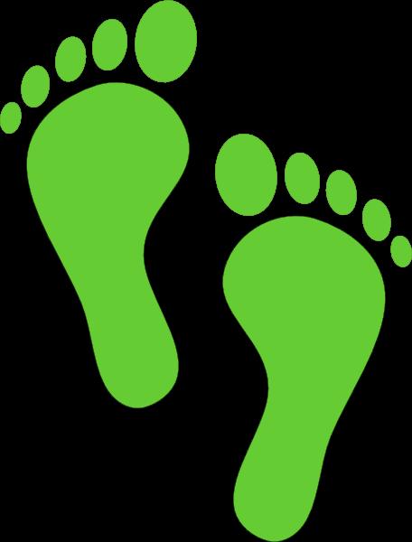 456x600 Green Footprints Cliparts